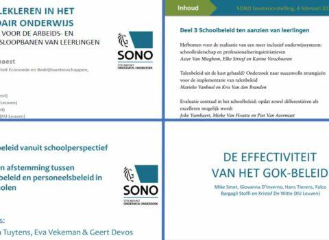 Presentaties boekvoorstelling SONO